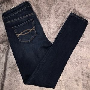 Dark Wash Patches Skinny Jeans